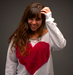 Raspberry Heart Sweater