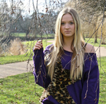 leopard fur star purple sweat