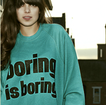 Boring is Boring Sweater Aqua
